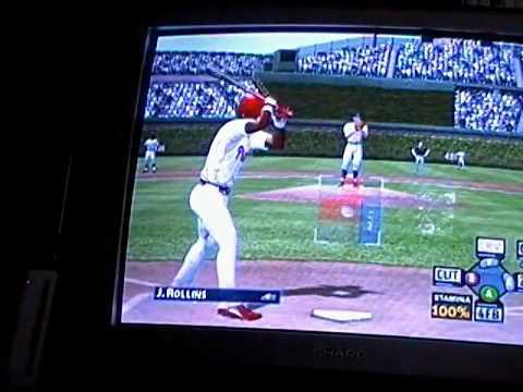 gamecube mvp baseball 2005 ted lilly's last start on the cubs vs phillies