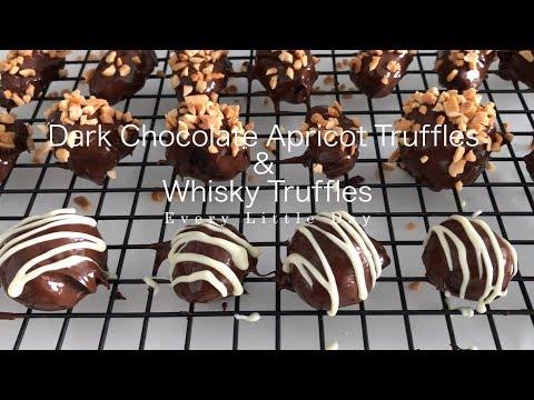 Dark Chocolate Apricot Truffles & Whisky Chocolate