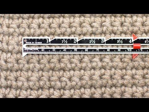 How To Measure Gauge For Crochet :: Crochet Tip #25