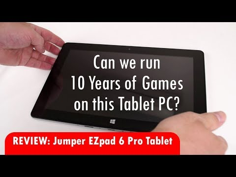 Gaming on the Jumper Ezpad 6 Pro Windows Tablet with 6GB RAM