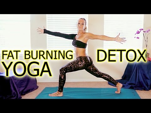 Beginners Yoga Meltdown for Detox & Weight Loss Part 2, Fat Burning Workout Routine