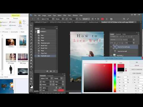 How to make a simple book cover in Photoshop