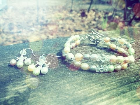 DIY Pretty in Pastel Pearl Bracelet and Earrings Set | eclecticdesigns