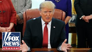 Trump addresses China, transgender rights, the Squad in fiery remarks