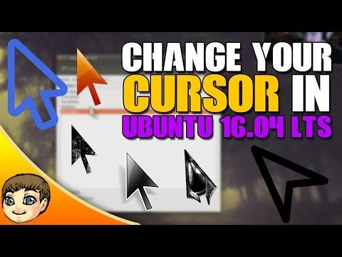 How to change your cursor in Ubuntu 16.04 // Ubuntu 16.04 Tips