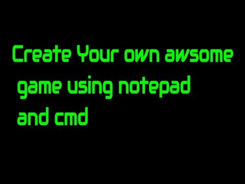 How to create a game using cmd | on pc in hindi |Modified Rules