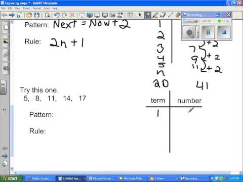 Patterns and sequences 8th Grade Math
