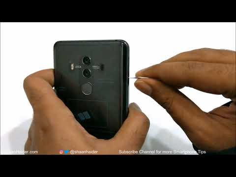 Huawei Mate 10 Pro - How to Insert SIM Cards