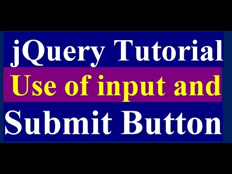How to Use Input Button and Submit Button Function in jQuery - jQuery Tutorial