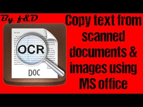 How to Extract or Copy TEXT from Scanned documents and image files using Microsoft office and paint