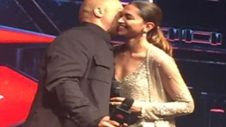 Vin Diesel KISSES Deepika Padukone @ XXX Return of Xander Cage Press Conference