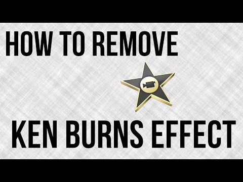 How To Remove The Ken Burns Effect In iMovie - iMovie Tutorial