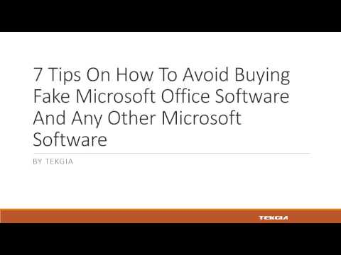 7 Tips On How To Avoid Buying Fake Microsoft Office Software  – Tekgia