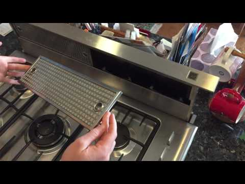 How to clean the grease filter on a Broan-NuTone-Rangemaster downdraft vent