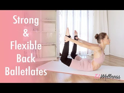 Strong And Flexible Back ♥ Balletlates | Improve Back Extension | Ballet Workout | Pilates Workout |