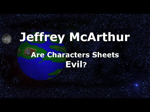 Are Character Sheets Evil?