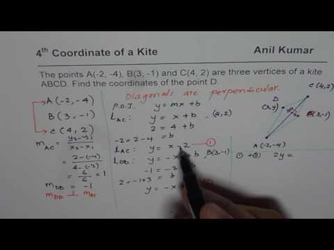 How to Find Fourth Coordinate for Kite from Three Given Points