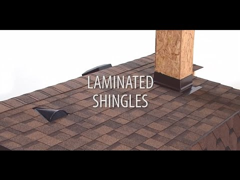 Installing laminated roof shingles