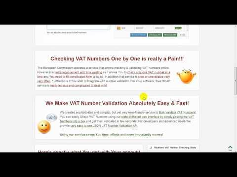 VAT Number Validator API