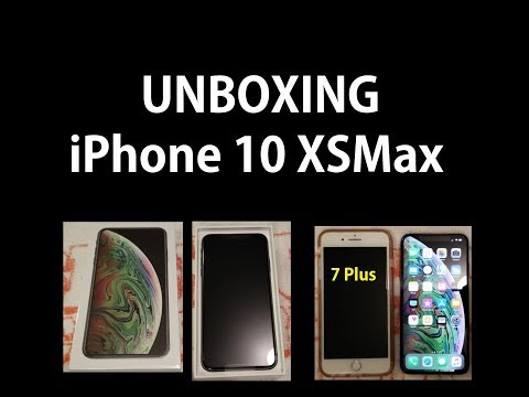 Unboxing iPhone XS Max Space Grey - Compared to iPhone 7 Plus