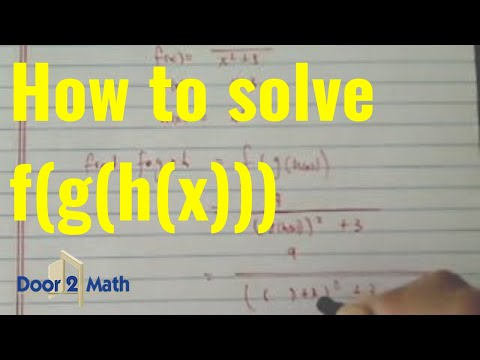 *^Composite Function: f(g(h(x))) if f(x) = 9/x^2 + 3,  g(x) = x + 3,  h(x) = x^2