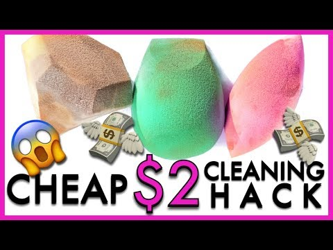 *HACK* Makeup Sponge  Cleaning Hack | Ruby Golani