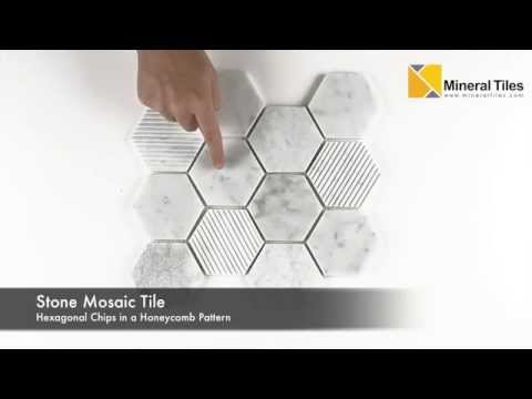Hexagon Carrara Marble Mosaic Tile - 230YS1528P