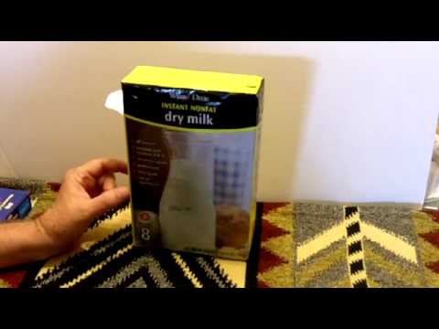 the top food storage item for prepper and survival-Powdered milk
