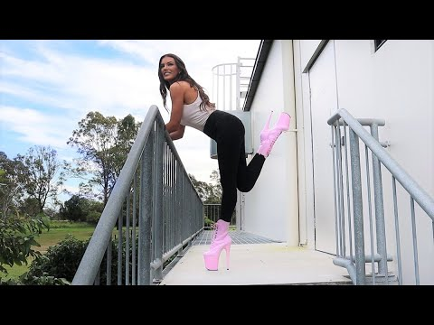 Xxx Mp4 Review How To Walk Up Stairs In 8 Inch Pleaser High Heel Boots For 1st Time 3gp Sex