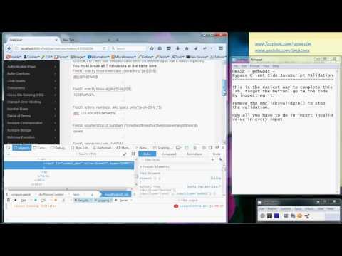 OWASP WebGoat - ByPass Client Side JavaScript Validation
