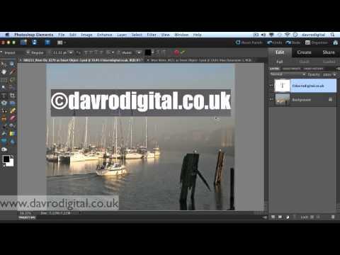 Watermark, signature Photoshop Elements