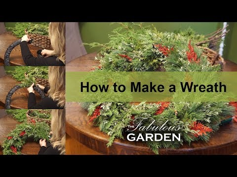 How to make a wreath out of fresh greenery