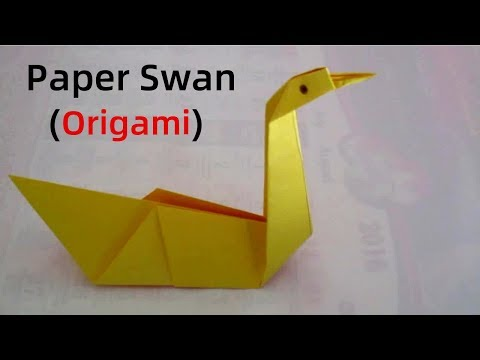 Origami swan - how to make an origami swan for beginners