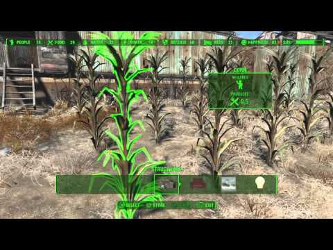Fallout 4 - Food Production & Assigning Settlers