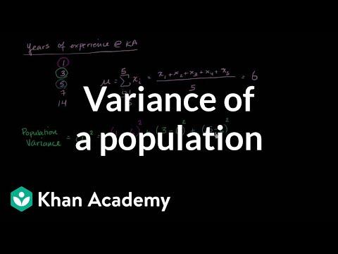 Variance of a population | Descriptive statistics | Probability and Statistics | Khan Academy