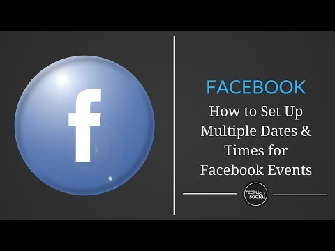 Facebook Adds Repeating Times & Dates to Events