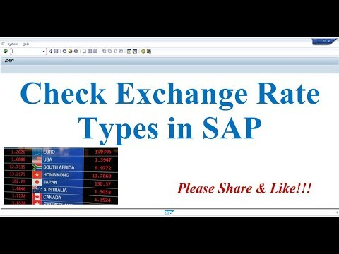 How to Check Exchange Rate Types in SAP