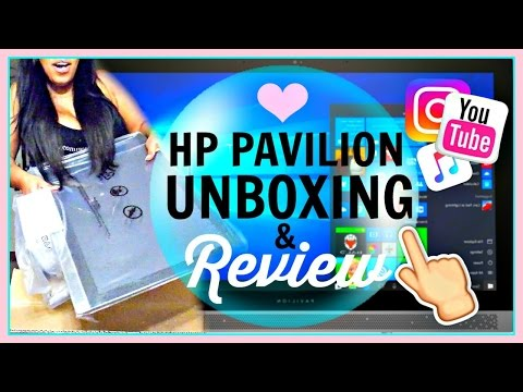 *NEW* HP Pavilion Desktop Unboxing & Review! All In One PC + Touchscreen | VLOGMAS Day 1 2016