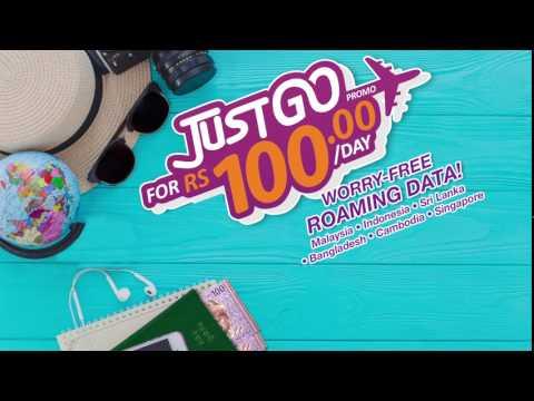JustGo Promo - Data Roaming at just Rs. 100/day