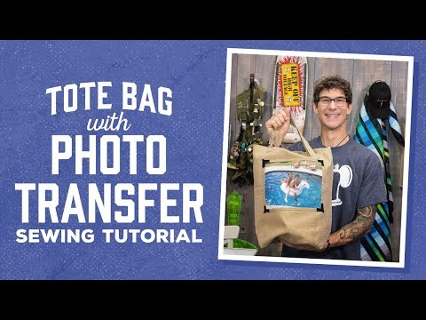 Make a Photo Transfer Tote Bag with Rob!