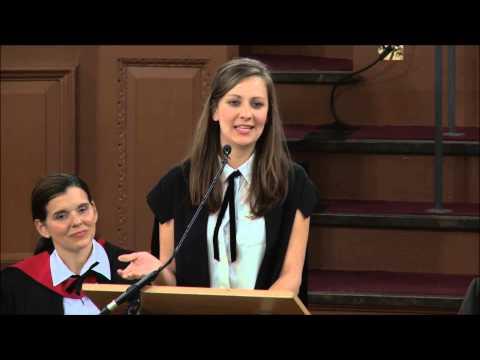 Saïd Business School, University of Oxford - MBA 2014 Graduation (Rebecca Gallogly)