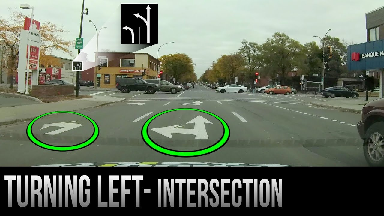 How to Turn Left at an Intersection