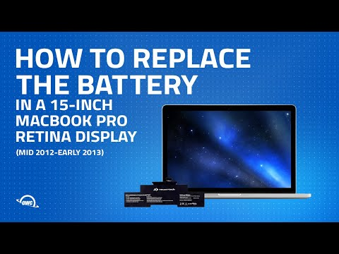 How to Upgrade / Replace the Battery in a MacBook Pro Retina 15-inch (mid 2012 to early 2013)