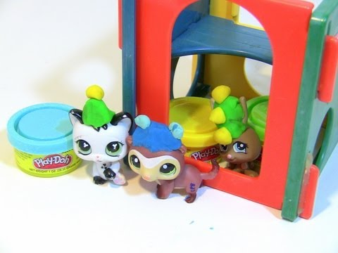 DIY Littlest Pet Shop Make PLAY-DOH Party Hats Birthday Party
