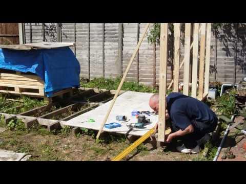Pallet wood workshop build.  Part 2