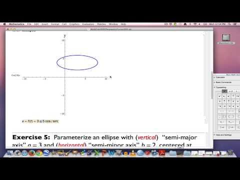 Multivariable Calculus, Part 5 (Parameterizing an ellipse)