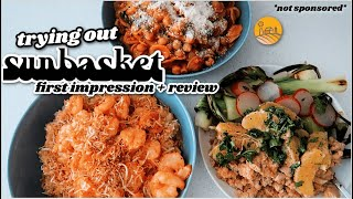 TRYING OUT SUNBASKET MEALS ☀️ *not sponsored*    HONEST REVIEW - Are They Healthy?? Is it Worth It??