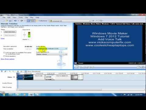 Windows Movie Maker Windows 7 2012 Tutorial - Do Voice