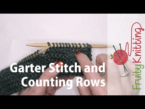 Garter Stitch and Counting Rows