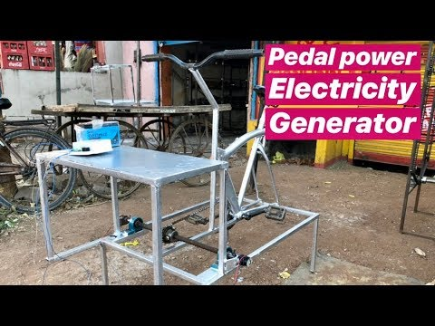 Pedal Power Electricity Generator